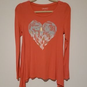 MUDD PINK bluse with heart size 16